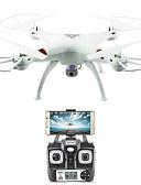 halpa Kukkaistyttöjen mekot-RC Kameralennokki FLYRC X53 RTF 4CH 6 Akselin 2,4G HD-kameralla 1.0MP 1080P*720P RC-multikopteri Kotiinpaluutoiminto / Auto-Takeoff /