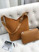 cheap Women's Trench Coats-Women's Bags PU(Polyurethane) Bag Set 2 Pieces Purse Set Zipper Black / Brown / Khaki