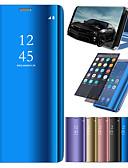 hesapli Cep Telefonu Kılıfları-Pouzdro Uyumluluk Samsung Galaxy J7 (2017) / J7 (2016) / J6 Satandlı / Kaplama / Ayna Tam Kaplama Kılıf Solid Sert PU Deri