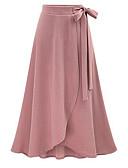 tanie Damska spódnica-Damskie Podstawowy Linia A Spódnice Solidne kolory Wysoka talia