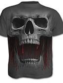ieftine Maieu & Tricouri Bărbați-tricou pentru bărbați - gât pentru echipaj de craniu