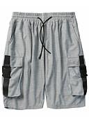 povoljno Muške duge i kratke hlače-Muškarci Osnovni Veći konfekcijski brojevi Sportske hlače Hlače Jednobojni