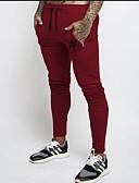 זול מכנסיים ושורטים לגברים-בגדי ריקוד גברים בסיסי מידות גדולות כותנה רזה צ'ינו / מכנסי טרנינג מכנסיים - אחיד אפור / ספורט