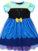 رخيصةأون فساتين البنات-فستان بدون كم / كم قصير لون سادة أساسي للفتيات طفل صغير