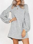 ieftine Sweater Dresses-Pentru femei Sleeve Lantern Tricotaje Rochie Mată Mini