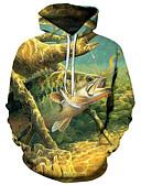 povoljno Muške majice s kapuljačom i trenirke-Muškarci Aktivan / pretjeran Hoodie - Print, 3D / Crtani film