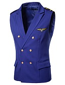 cheap Men's Blazers & Suits-Men's Active Street chic Vest-Solid Colored,Embroidered