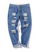 ieftine Pantaloni Bărbați si Pantaloni Scurți-Bărbați De Bază Pantaloni Chinos Pantaloni - Mată Imprimeu Albastru piscină