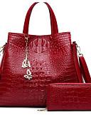 cheap Women's Blouses-Women's Bags PU(Polyurethane) Bag Set 2 Pieces Purse Set Zipper Black / Red