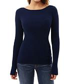 ieftine Bluză-Pentru femei Tricou De Bază / Șic Stradă - Mată