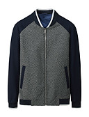 ieftine Maieu & Tricouri Bărbați-Bărbați Stand Jachetă Contemporan / Manșon Lung
