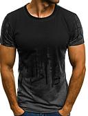 preiswerte Herren T-Shirts & Tank Tops-Herrn Einfarbig T-shirt, Rundhalsausschnitt / Kurzarm
