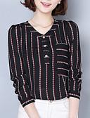 ieftine Bluză-Pentru femei În V Bluză Ieșire Dungi