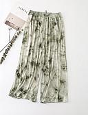 ieftine Pantaloni de Damă-Pentru femei Larg Pantaloni Chinos Pantaloni - Floral Bleumarin