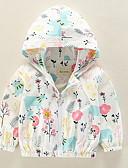 levne Dětské bundičky a kabátky-Dítě Dívčí Aktivní Denní Květinový Tisk Dlouhý rukáv Standardní Polyester Bundičky a kabáty Světlá růžová / Toddler