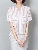 economico Camicie da donna-Camicia Per donna Essenziale Con stampe, A strisce Colletto alla coreana - Cotone Rosso L / Estate