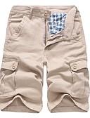 ieftine Jachete & Paltoane Bărbați-Bărbați Șic Stradă Bumbac Pantaloni Chinos / Pantaloni Scurți Pantaloni - Mată Negru / Vară