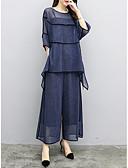 זול חליפות שני חלקים לנשים-מכנס אחיד - חולצה ליציאה / עבודה בגדי ריקוד נשים
