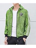 tanie Męskie koszulki polo-Męskie Aktywny Długi rękaw Bluza z Kapturem - Jendolity kolor Kaptur