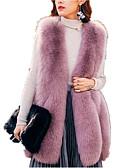 cheap Women's Fur & Faux Fur Coats-Women's Basic Fur Coat - Solid Colored