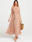 tanie Print Dresses-Damskie Vintage / Boho Spodnie - Geometric Shape Rozcięcie Rumiany róż / Łódeczka / Z odsłoniętymi ramionami