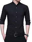 povoljno Muške košulje-Majica Muškarci Dnevno Jednobojni