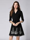 povoljno Ženske haljine-Žene Vintage / Ulični šik A kroj / Little Black Haljina - Vezeno, Cvjetni print Iznad koljena
