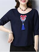 ieftine Tricou-Pentru femei Tricou Bumbac Floral
