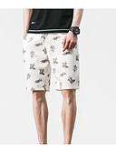 ieftine Pantaloni Bărbați si Pantaloni Scurți-Bărbați Activ Pantaloni Scurți Pantaloni Mată / Buline / Galaxie Negru & Roșu