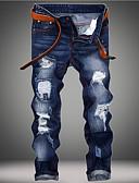cheap Men's Shirts-Men's Basic Plus Size Cotton Slim Jeans Pants - Solid Colored