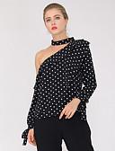 ieftine Bluză-Pentru femei Cămașă De Bază - Buline Imprimeu