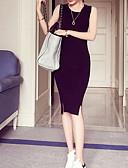 levne Dámské šaty-Dámské Základní A Line Šaty Délka ke kolenům