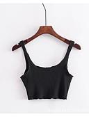 ieftine Bluze & Camisole Femei-Pentru femei Cu Bretele Tank Tops Ieșire Mată