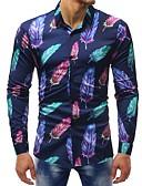 povoljno Muške košulje-Majica Muškarci - Osnovni Dnevno / Vikend Cvjetni print / Color block Print
