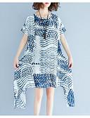 tanie Sukienki w rozmiarach plus-Damskie Bawełna Zmiana Sukienka Do kolan