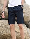 baratos Camisetas & Regatas Masculinas-Homens Básico Shorts Calças - Sólido