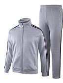 ieftine Maieu & Tricouri Bărbați-Bărbați Zvelt Manșon Lung Hanorca / activewear Set Mată / Dungi Stand