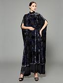 preiswerte Abendkleider-Damen - Kreativ / Beflockung / Böhmische Boho / Anspruchsvoll Abaya überdimensional / Patchwork / Jacquard