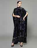 billige Jakke & Trench Coat-Overstørrelse / Lapper / Jacquard Abaya - Kreativ / Velur / Bohemsk Bohem / Sofistikert Dame
