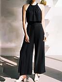 baratos Vestidos de Noite-Mulheres Moda de Rua / Sofisticado Macacão - Cordões, Sólido