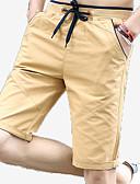 tanie Męskie spodnie i szorty-Męskie Podstawowy Szorty Spodnie Solidne kolory
