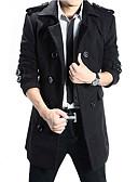 זול גברים-ג'קטים ומעילים-בגדי ריקוד גברים שחור אפור כהה XL XXL XXXL בלשית ארוך עכשווי / שרוול ארוך