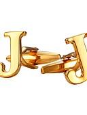 levne Závoje-Písmeno Stříbrná / Zlatá Kol Düğmeleri Měď Alphabet Shape Kovový / Formal Pánské Kostýmní šperky Pro Dar / Denní