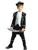 cheap Girls' Dresses-Pirate Costume Boys' Child's Halloween Halloween Carnival Children's Day Festival / Holiday Polyster Outfits Black Solid Colored Halloween