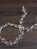 رخيصةأون زينة الكيك-أكريليك بندانة رأس مع لؤلؤ اصطناعي 1 قطعة زفاف / حفل / مساء خوذة