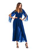 povoljno Ženske haljine-Žene Vintage Šifon Haljina - S izrezom, Jednobojni Do koljena