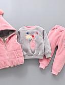 povoljno Kompletići za bebe-Dijete Djevojčice Jednobojni Dugih rukava Komplet odjeće