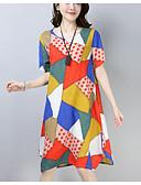 ieftine Print Dresses-Pentru femei Larg Shift Rochie Lungime Genunchi