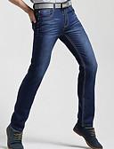 ieftine Pantaloni Bărbați si Pantaloni Scurți-Bărbați Talie Înaltă Zvelt Blugi Pantaloni Buline / Muncă / Sfârșit de săptămână