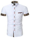 abordables Camisas de Hombre-camisa de salida de los hombres - cuello geométrico de la camisa